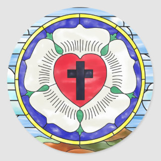 Sticker Rond Fenêtre en verre teinté de joint de Luther