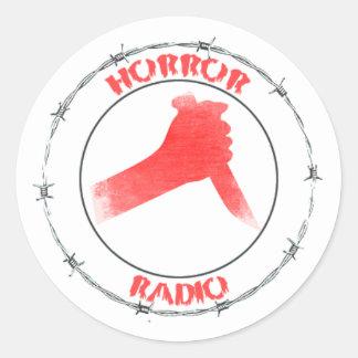 Sticker Rond Feuille PAR RADIO d'autocollant d'HORREUR