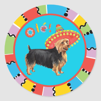 Sticker Rond Fiesta Terrier australien