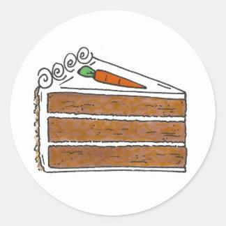Sticker Rond Fin gourmet de cuisson de dessert de tranche de