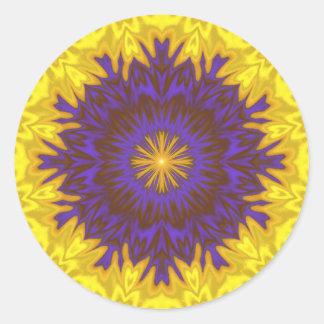 Sticker Rond Fleur fabuleuse d'imaginaire