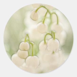 Sticker Rond Fleurs du muguet