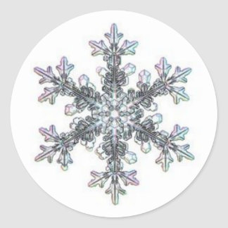 Sticker Rond Flocon de neige