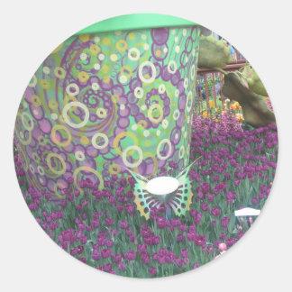 Sticker Rond Floralies d'amusement CherryHill 2014 NJ Las Vegas
