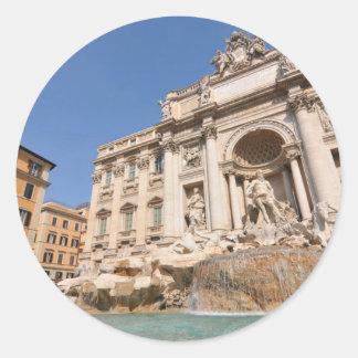 Sticker Rond Fontana di Trevi à Rome, Italie