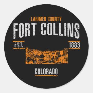 Sticker Rond Fort Collins