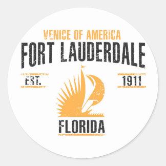 Sticker Rond Fort Lauderdale