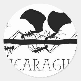 Sticker Rond Fourmis Nicaragua de Leafcutter