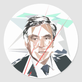 Sticker Rond Francois Fillon avant pénéloppe gate
