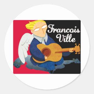 Sticker Rond Francois Ville Logo (Stedy Salin)
