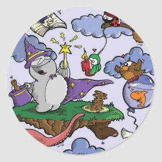 Sticker Rond Fred Wizard the
