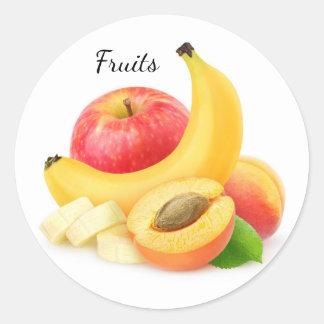 Sticker Rond Fruits frais
