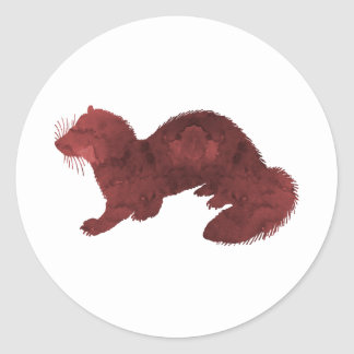 Sticker Rond Furet