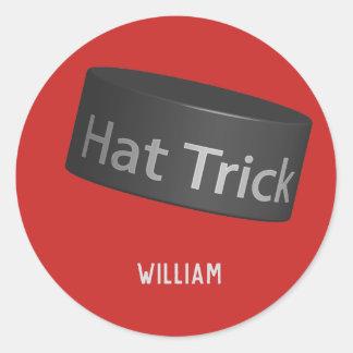 Sticker Rond Galet de tour de casquette avec le nom