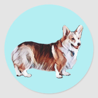 Sticker Rond Gallois tricolore Corgi.PNG
