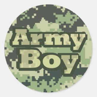 Sticker Rond Garçon d'armée