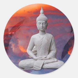 Sticker Rond Gautama Siddhartha Bouddha