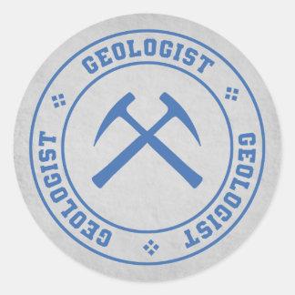 Sticker Rond Géologue