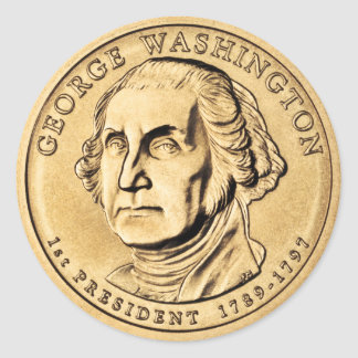 Sticker Rond George Washington