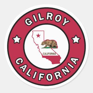 Sticker Rond Gilroy la Californie