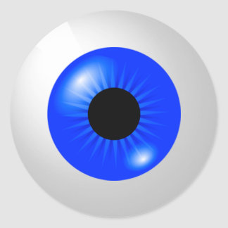 Sticker Rond Globe oculaire bleu