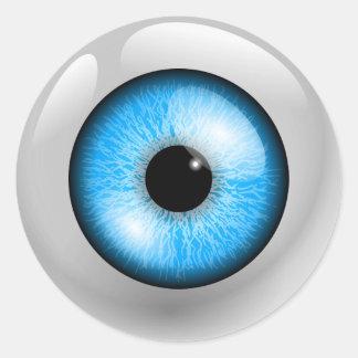 Sticker Rond Globe oculaire bleu-clair