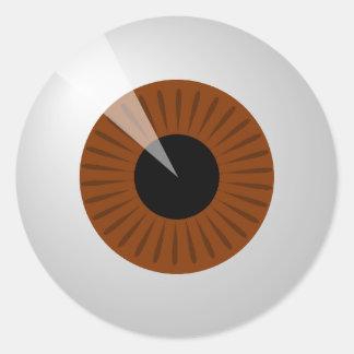 Sticker Rond Globe oculaire de Brown