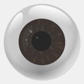 Sticker Rond Globe oculaire de Brown foncé