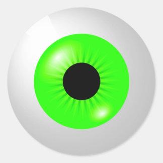 Sticker Rond Globe oculaire vert clair