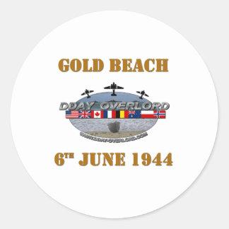 Sticker Rond Gold Beach 6th June 1944