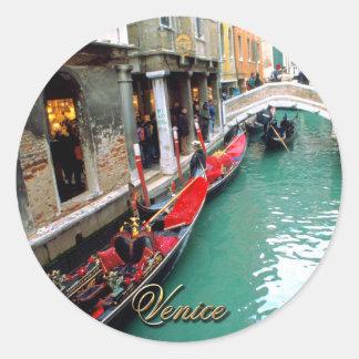 Sticker Rond Gondoles - Venise, Italie