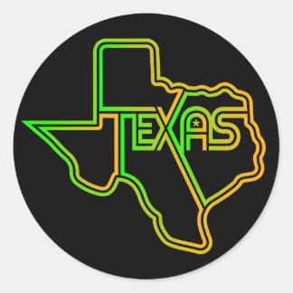 Sticker Rond Grand décalque génial du Texas