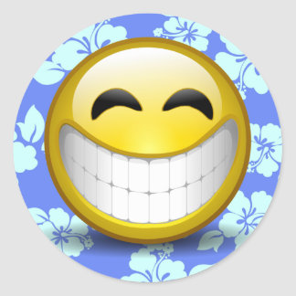 Sticker Rond Grand sourire
