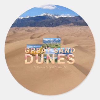 Sticker Rond Grandes dunes de sable d'ABH