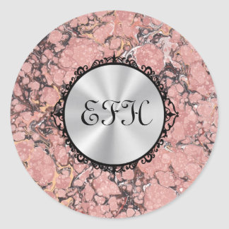 Sticker Rond Granit rose