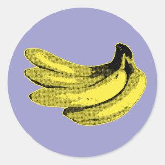 Sticker Rond Graphique de banane de jaune d'art de bruit