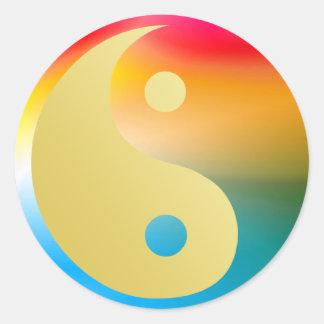Sticker Rond Groovin Yin et Yang