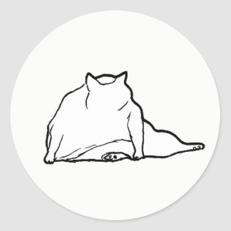 Sticker Rond Gros chat #3