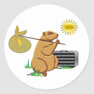 Sticker Rond Groundhog fonctionne loin