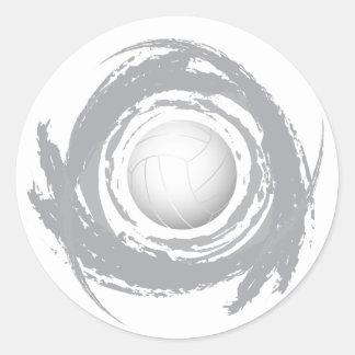 Sticker Rond Grunge circulaire 1 de volleyball gentil
