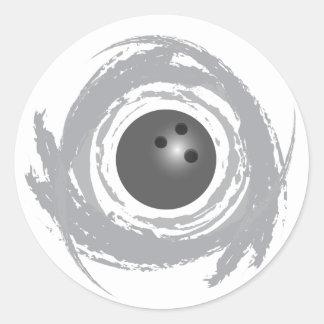 Sticker Rond Grunge gentille de circulaire de bowling