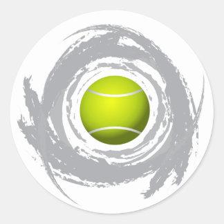Sticker Rond Grunge gentille de circulaire de tennis