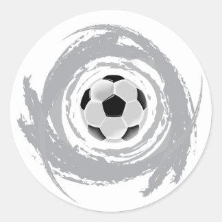 Sticker Rond Grunge gentille de circulaire du football