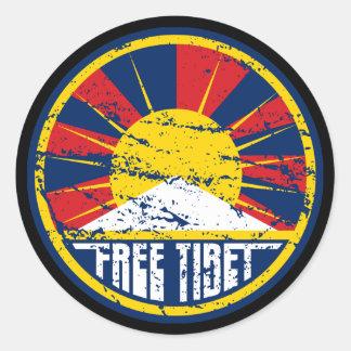 Sticker Rond Grunge ronde libre du Thibet