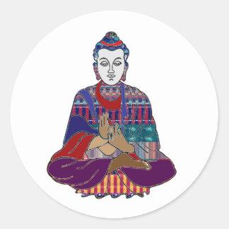 Sticker Rond Guérison de chant religieux de maître de