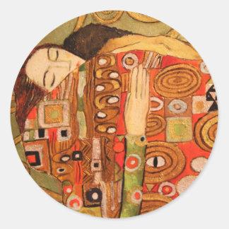 Sticker Rond Gustav Klimt