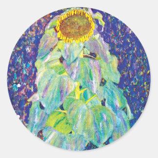 Sticker Rond Gustav Klimt - la peinture de beaux-arts de