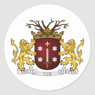 Sticker Rond Haarlem wapen, Pays-Bas
