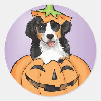 Sticker Rond Halloween Berner
