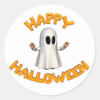 Sticker Rond Halloween ghost